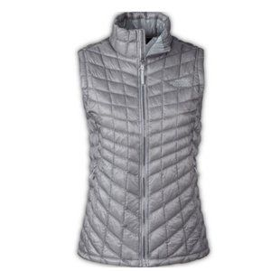 The North Face Thermoball Gray Quilted Vest Small
